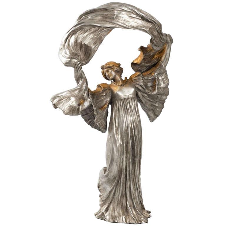 Wiener Museum Silvered Bronze Leonard