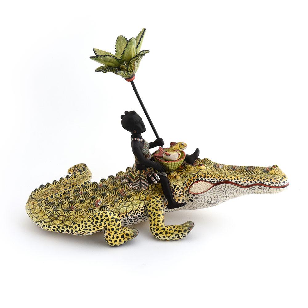 Wiener Museum Ardmore crocodile Rider